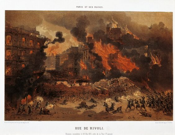 France 19th century Paris Commune Paris on fire in the night of May 24 1871…