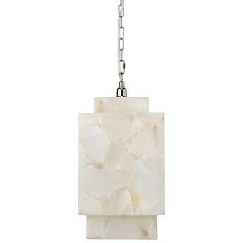 Jamie Young Borealis 9 Wide Alabaster Cube Mini Pendant 1v173