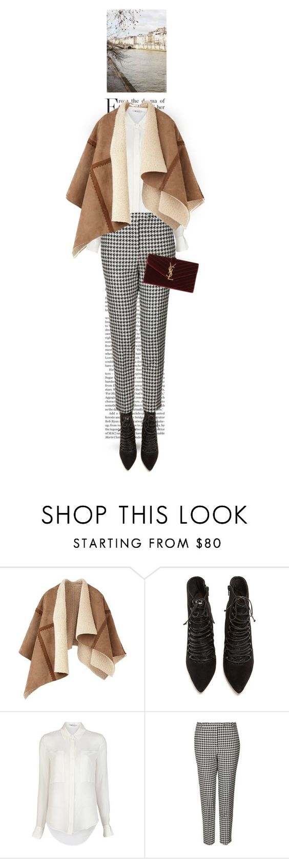 """""""175."""" by auroram ❤ liked on Polyvore featuring Burberry, Lucy Choi London, T By Alexander Wang, Topshop and Yves Saint Laurent"""