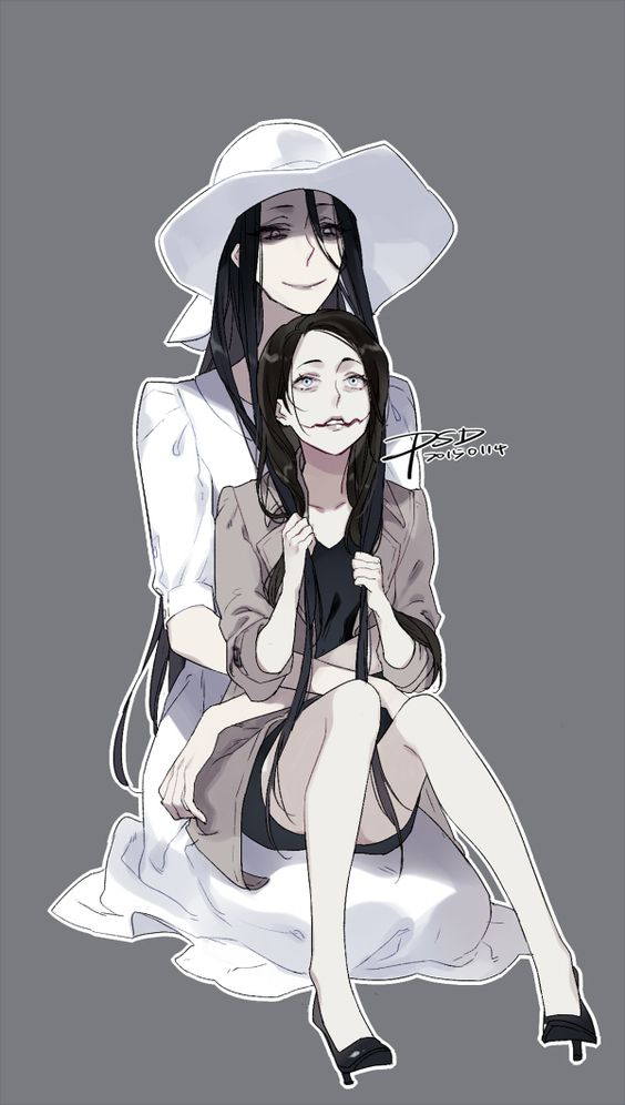 Hachishakusama And Kuchisake Onna Fan Art By Pslendy