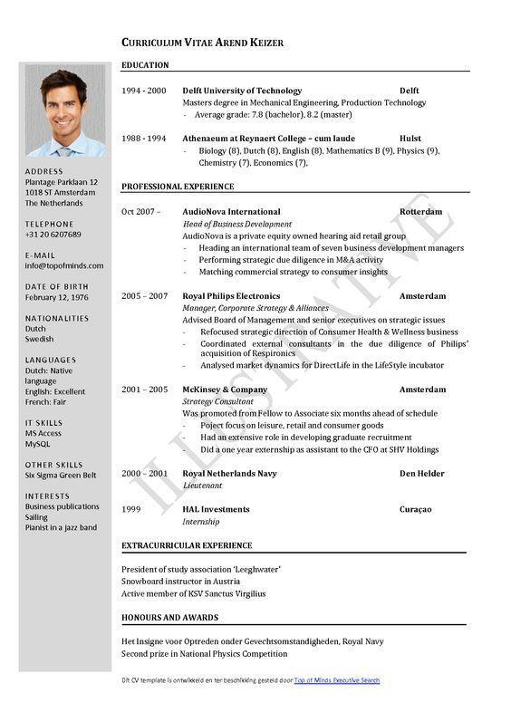 Free Curriculum Vitae Template Word Download Cv Template Riwayat Hidup Wawancara Kerja Wawancara