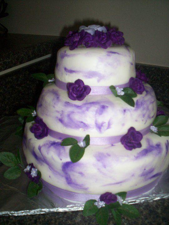 marbled Fondant wedding cake.