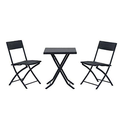Outsunny Ensemble Meubles de Jardin Design Table carré et ...