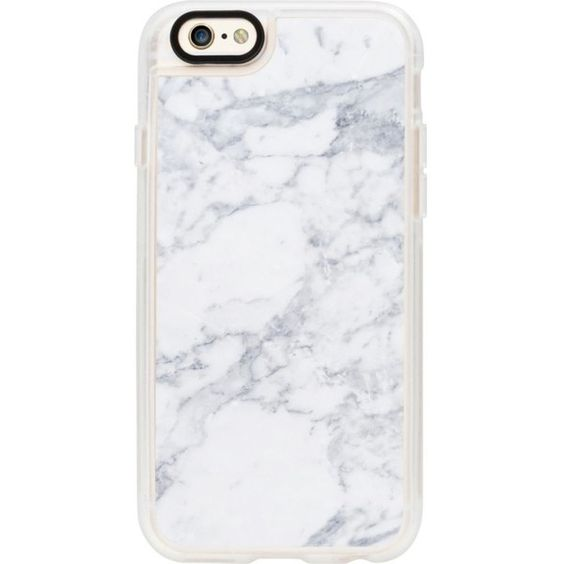 CASETIFY White Marble iPhone 6 case ($43) ❤ liked on Polyvore featuring accessories and tech accessories