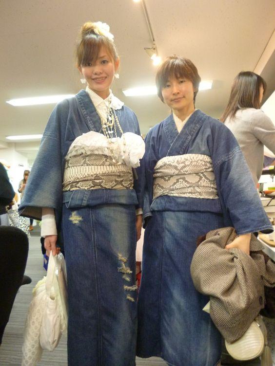 デニム着物 Denim Kimono