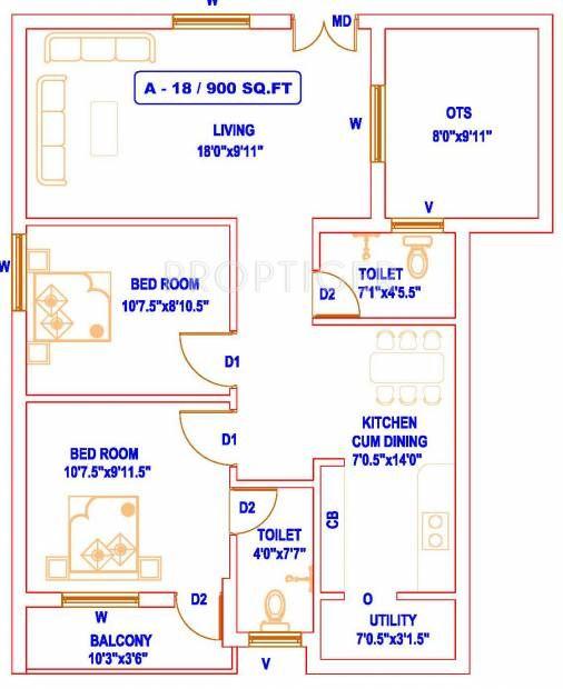 Small House Design 900 Sq Feet 22 Luxury 100 2bhk House Plans House Plans Small House Plans Small House Design