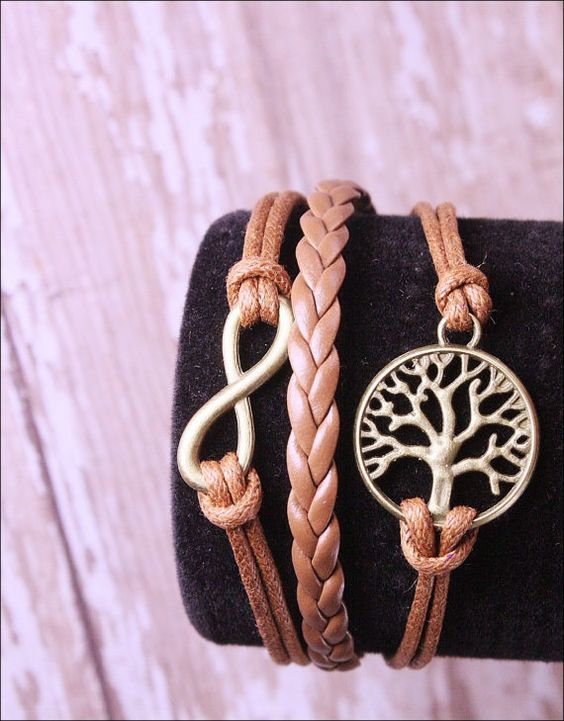 Tree of Life bracelet, infinity bracelet, yoga bracelet, boho bracelet, charm bracelet, bangle bracelet on Etsy, $6.00