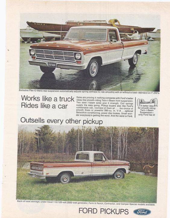 #outdoor #vintage #auto #1970s #advertising #magazine #retro #fashion #style #retro #paper #ephemera #tailgate #USA #roadtrip #etsy #forsale #salesman #collectible #decor #salesman #truck #pickup #work #camping #ford #f250 #boatyard