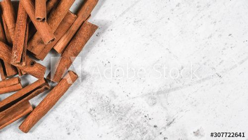 Closeup Detail Heap Of Cinnamon Bark Sticks On White Stone Board Empty Space For Text Right Side Sponsored In 2020 Cinnamon Cinnamon Bark Graphic Design Trends