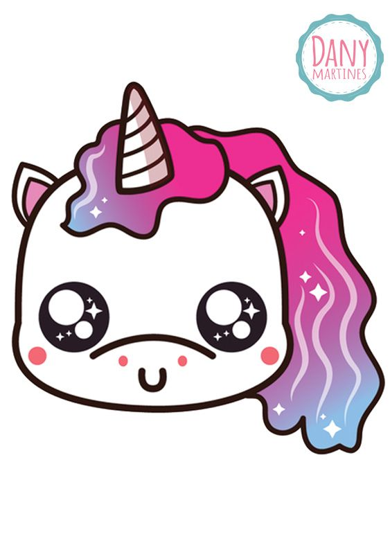 Frente Do Porta Canetas Lindo De Unicornio Kawaii Doodles Kawaii