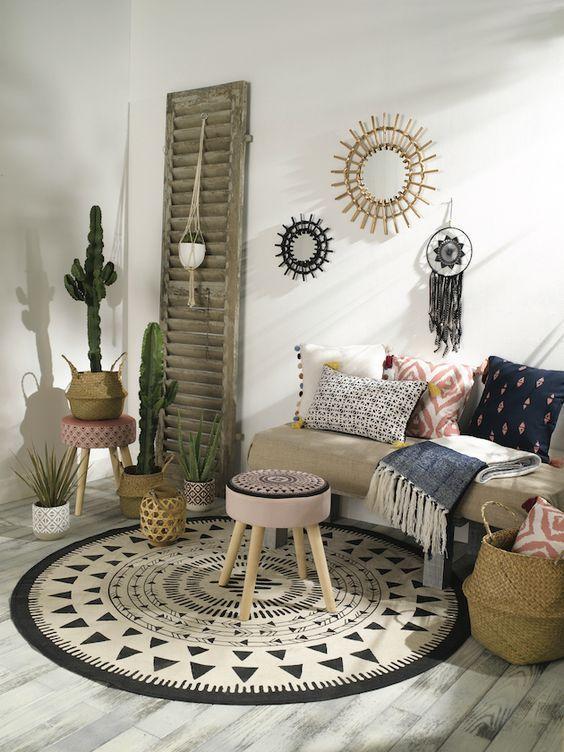 tati deco salon jungle boheme - #decoracion #homedecor ...