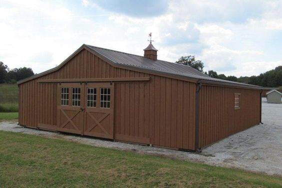 Low Profile w/ Raised Roof Modular Barn!  http://www.woodtex.com/barns-and-run-in-sheds.asp