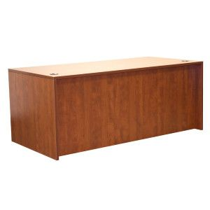 OFD Ultra Laminate Series 71″ Desk Shell - Cherry, Mahogany or Espresso; More pieces available #officefurniture #desk