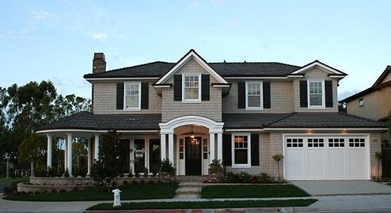 Tan House Black Shutters And Shutters On Pinterest