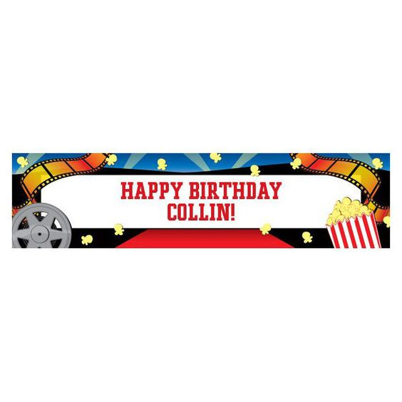 Check out Hollywood Personalized Banner (each) - Cheap Personalized Supplies and…