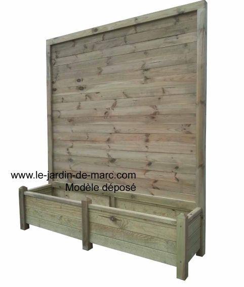 bois avec treillis 160×40 hauteur 180cm traité imputrescible