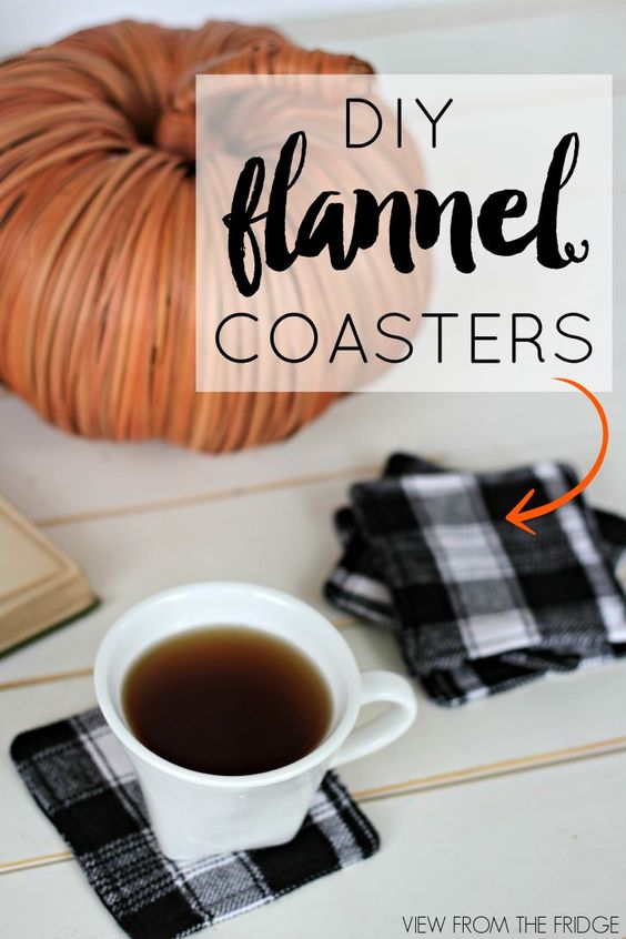 DIY Flannel Coasters ... perfect touch for Fall and Winter | Via View From The Fridge: