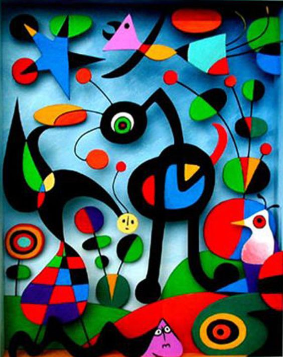 joan miro gardens and paintings on pinterest