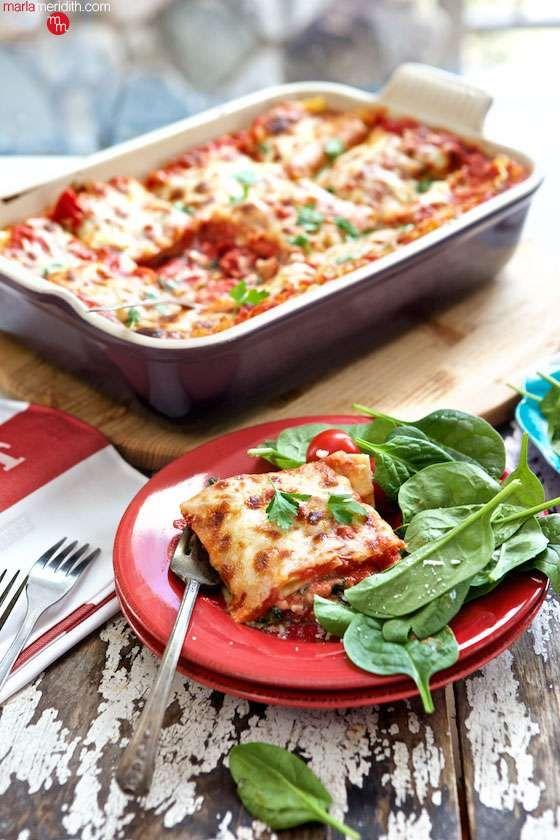 Family Favorite! Vegetarian Lasagna - Marla Meridith