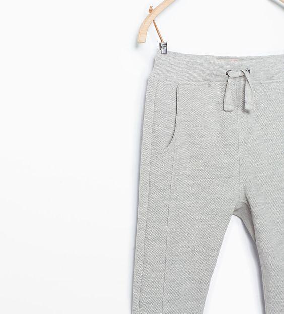Image 3 of PIQUE TROUSERS WITH TWO POCKETS from Zara