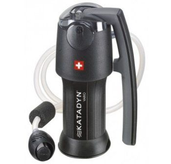 Clean water any time - any where. The Katadyn water filter is lightweight and easy to use for backpacking or camping. So it has dual uses. It can easily be used in a disaster situation as well as out in the wilderness for camping and hiking.