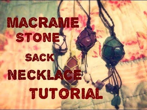 ¿Cómo hacer un saco de piedra macramé / bolsa colgante tutorial