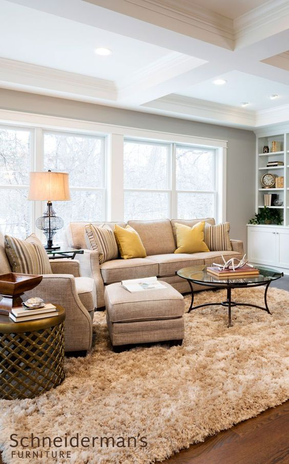 Neutral furniture makes a perfect canvas for changing for Accent colors for neutral rooms