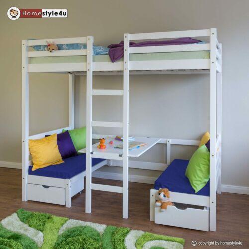 Details Zu Kinderbett Hochbett Schreibtisch Etagenbett Sitzkissen