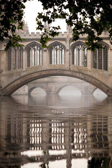 Bridge of Sighs, Cambridge University, England.  Photo:  Cambridge University, via Flickr