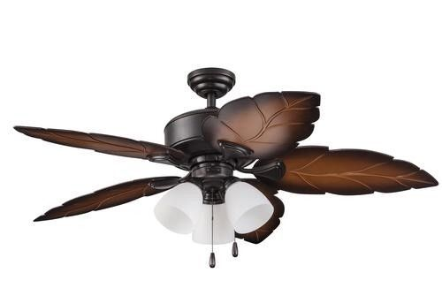 New 52 3 Light Tropical Wet Rated Outdoor Ceiling Fan Bronze Leaf Porch Patio Ebay Ceiling Fan Outdoor Ceiling Fans Led Ceiling Fan Outdoor ceiling fan on sale