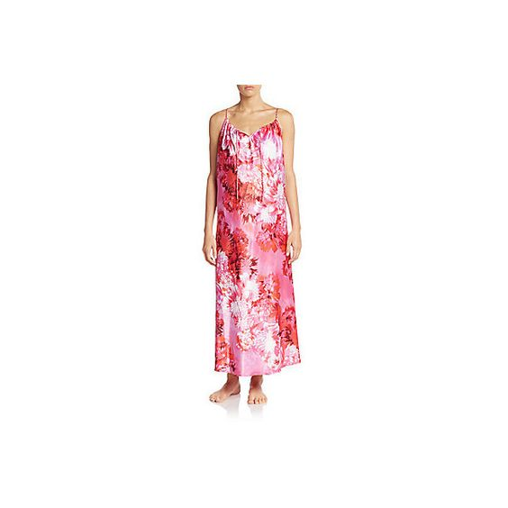 Oscar de la Renta Charming Floral-Print Nightgown ($30) ❤ liked on Polyvore featuring intimates, sleepwear, nightgowns, floral pink, pink sleepwear, oscar de la renta, pink nightgown, oscar de la renta sleepwear and oscar de la renta nightgown