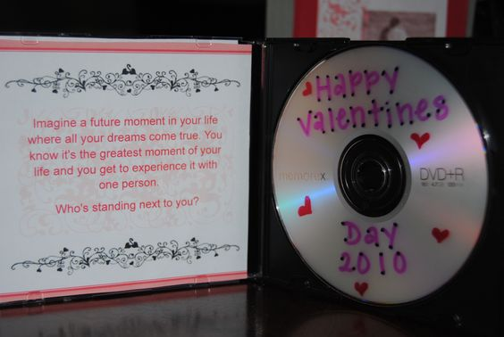 Made this for my hubby for Valentines 2 years ago. It's a DVD of pictures of us - the quote is from my *fav* show OTH