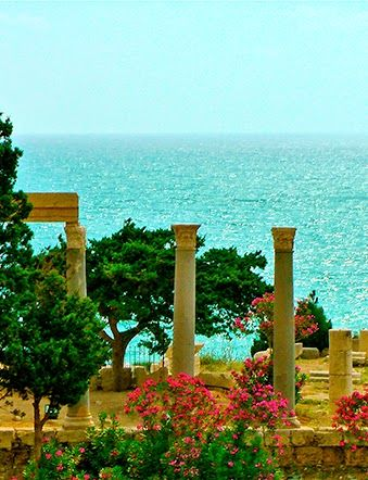 Ruins by the Mediterranean, in Byblos, Lebanon.