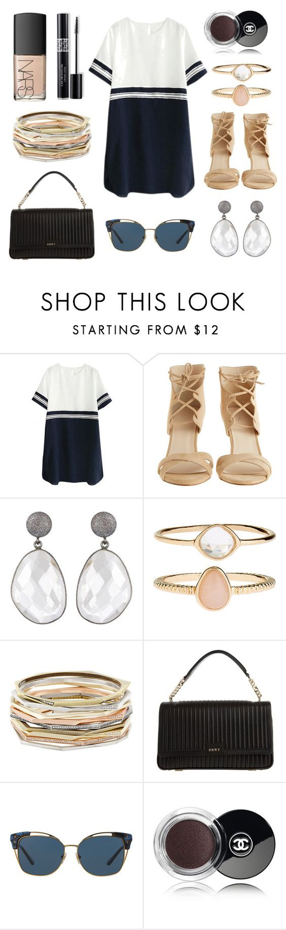 """""""Aye aye"""" by beetbij ❤ liked on Polyvore featuring Plomo, Accessorize, Kendra Scott, DKNY, Tory Burch, Chanel, NARS Cosmetics and Christian Dior"""
