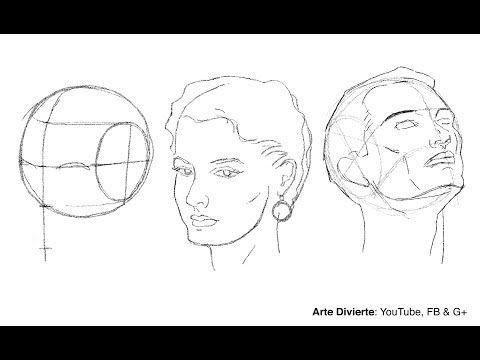 Como Dibujar Un Rostro Desde Cualquier Angulo Metodo De Andrew Loomis Youtube Como Dibujar Rostros Como Dibujar Andrew Loomis