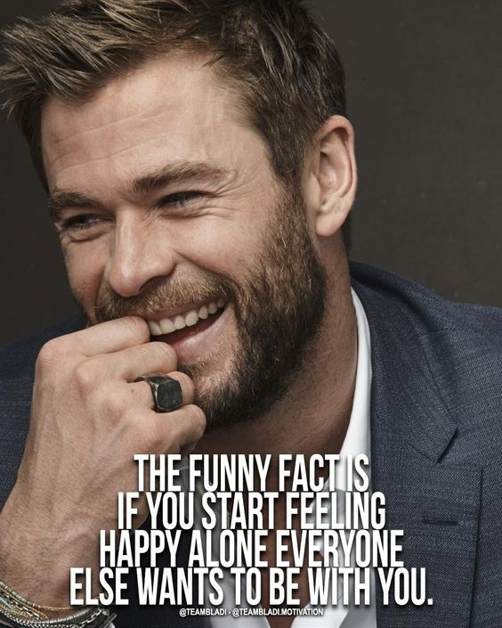 The funny fact is if you start feeling happy alone everyone else wants to be with you. #motivation #quotes #quoteoftheday #wisdom #truth #fashion #men #menfashion