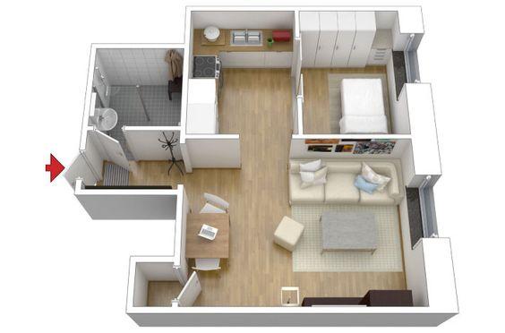 Apartamento pequeno: cinza   colorido