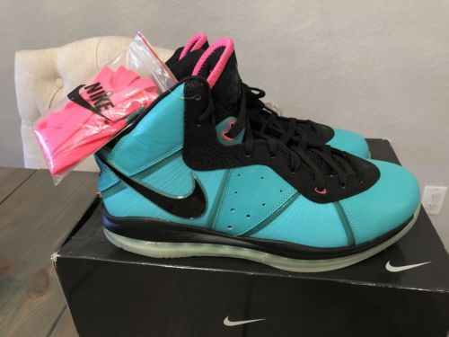 DS Nike Lebron 8 Pre Heat South Beach Size 13 miami night jewel clark kent pe