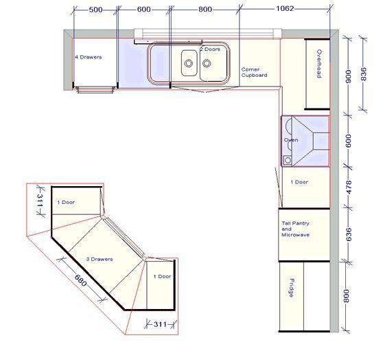Kitchen Design Outstanding Kitchen Floor Plan With Detail Sizes Basementremodelingce Kitchen Cabinets Design Layout Kitchen Floor Plans Kitchen Remodel Small