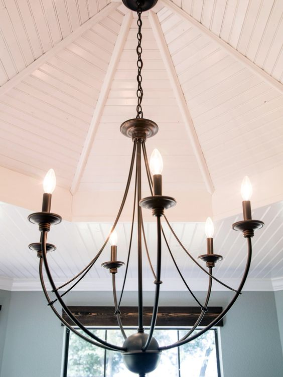 Foyer And Dining Room Lighting : Chandelier from fixer upper for entryway light it up