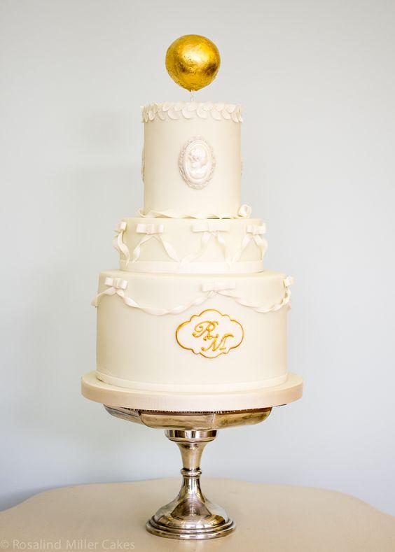 Peppermint Scrolls Wedding Cake by Rosalind Miller Cakes - London