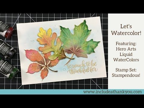 29 Water Color Fall Leaves Featuring Hero Arts Liquid Water