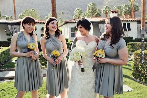 gotta love grey and yellow | CHECK OUT MORE IDEAS AT WEDDINGPINS.NET | #weddings #bridesmaids #bridal #dresses #fashion #forweddings