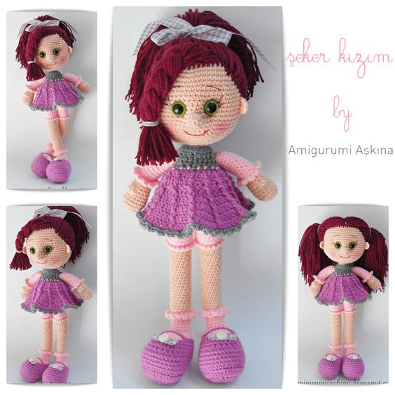 Amigurumi Human Doll Free Pattern : Amigurumi Candy Doll Free Pattern by amigurumiaskina on ...