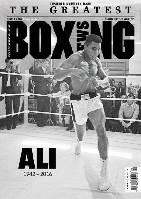 #MagLove 17 June 2016 — the best magazine covers this week — Muhammad Ali: Boxing News, 9 June 2016.