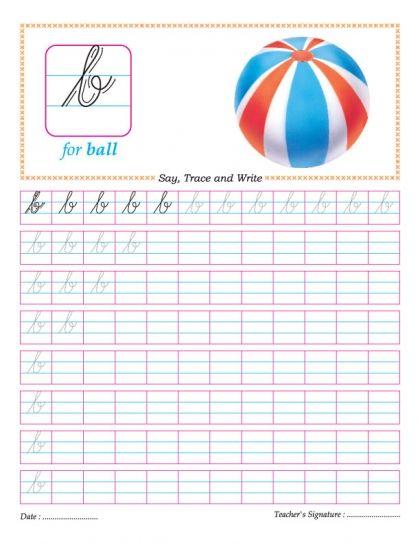 Cursive small letter b practice worksheet | Good ideas | Pinterest ...