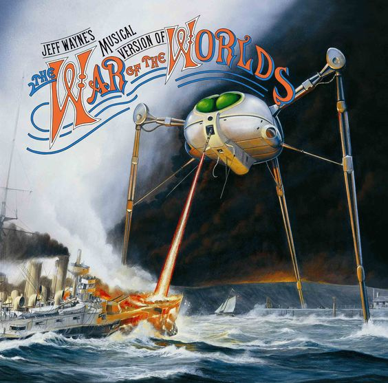 The War Of The Worlds. Remember sitting in the car with Diane in the garage, no lights, scaring ourselves to death!