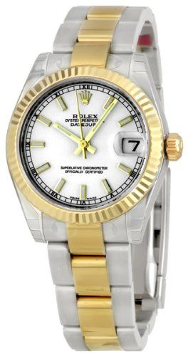 Rolex Datejust White Index Dial Oyster Bracelet Two Tone Unisex Watch 178273WSO