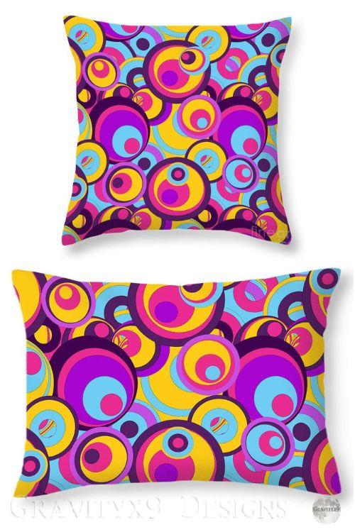 Groovy Pillows Retro Style Throw Pillows Pillow Sale Groovy