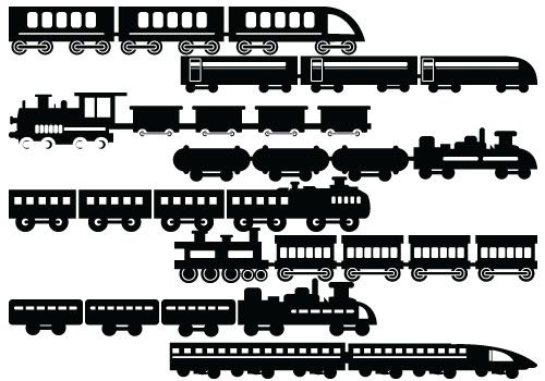 Silhouette of Trains with wagon. #trains #wagon # ...